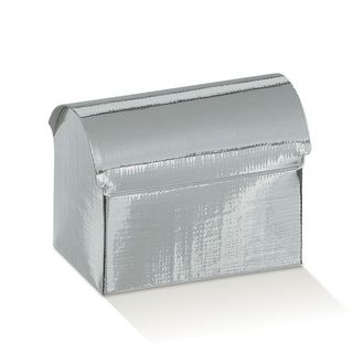 CHEST SMALL 70(L)x45(W)x52(H)mm METALLIC SILVER -PACK OF 10