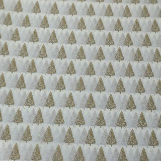 TISSUE PRINTED QUIRE (20) PETITE GOLD TREES SIZE 76cm X 50cm