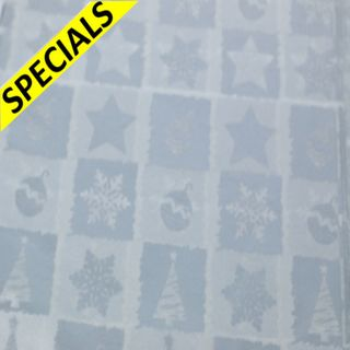 TISSUE REAM 100 SHEETS SILVER CHRISTMAS SIZE 50cm X 66cm
