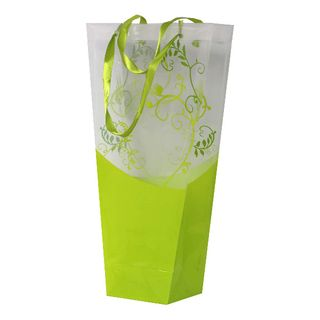 FLORIST SIROCCO BAG 450(H)x250(W)x120(G)mm LIME-PACK OF 10