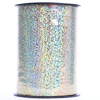 CURLING RIBBON HOLOGRAPHIC 7mm x 225M GOLD-BUY 1 GET 1 FREE