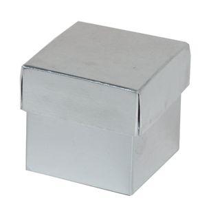 TRINKET 50x50x50mm METALLIC SILVER -PACK OF 10