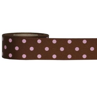 DIPPITY DOT 38mm x 9M BROWN/PINK DOT - BUY1 GET1 FREE