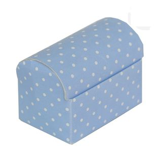 CHEST SMALL 70x45x52mm DOTTI BLUE-PACK OF 10 (Buy1Get1-NO RETURNS)