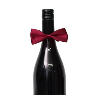 SATIN BOW TIE PACK OF 12 BURGUNDY
