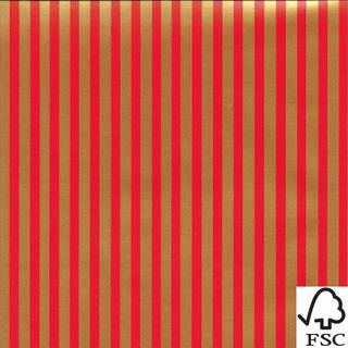 RED AND GOLD STRIPE  500mmx50M