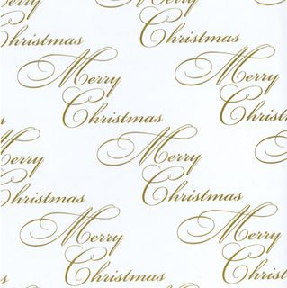 CELLOPHANE PRINTED 500mmx100M CHRISTMAS GOLD