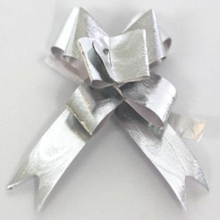 P.BOW METALLIC WAVE 14mm SILVER (100)