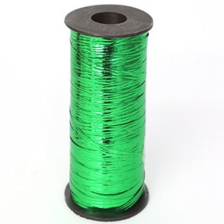 CURLING RIBBON METAL EMBOSSED 5mm x 460M EMERALD