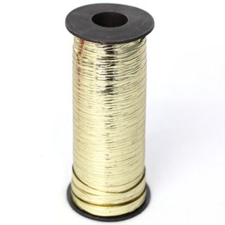 CURLING RIBBON METAL EMBOSSED 5mm x 460M GOLD