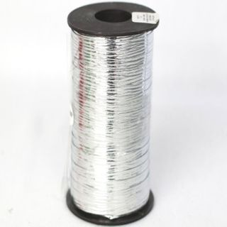 CURLING RIBBON METAL EMBOSSED 5mm x 460M SILVER