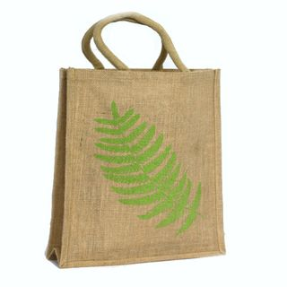 KIWIANA JUTE BAG LARGE FERN NATURAL 430(H)x320(W)x100(G) mm