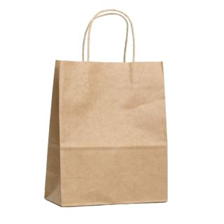 KRAFT BAG BROWN PLAIN MEDIUM 27H x21W x 11G CM  PACK OF 10