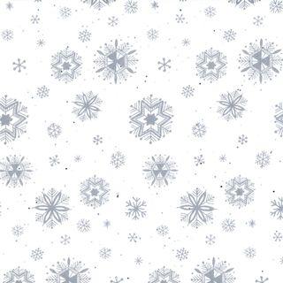TISSUE PRINTED QUIRE (20) DIAMOND SNOWFLAKE SIZE 76cm X 50cm
