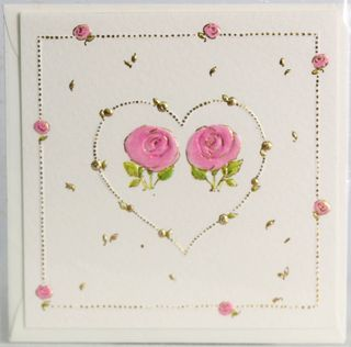 GIFT CARD HEART/ROSES 78mm X 78mm