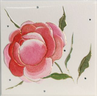 GIFT CARD WILD ROSE 78mm X 78mm