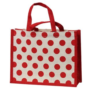 RED DOT JUTE BAG MEDIUM 235(H)x300(W)x100(G) mm