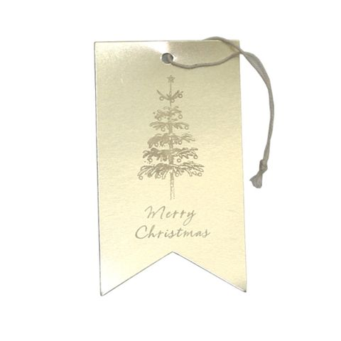 GIFT TAG GOLD MERRY CHRISTMAS 12 PER PACK