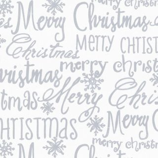 MINI ROLL CHRISTMAS FONT SILVER 200mm x 50M