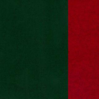 MINI ROLL RIB KRAFT RED/GREEN 200mm x 50M