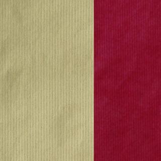 MINI ROLL RIB KRAFT RED/GOLD 200mm x 50M