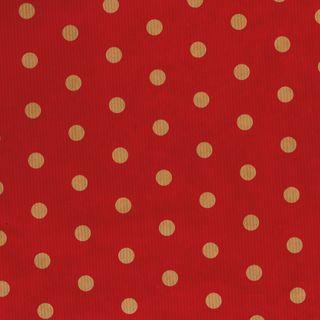 MINI ROLL RIB KRAFT DOT RED 200mm x 50M