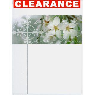 GIFT CARD 33 WHITE CROSS WHITE FLOWERS 90mm x 70mm (MIN BUY 10)