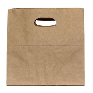 KRAFT BAG BROWN DIECUT LARGE 28Hx28W x15G CM  PACK OF 10