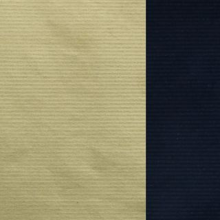 MINI ROLL RIB KRAFT NAVY/GOLD  200mm x 50M
