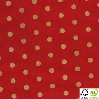 RIB KRAFT 500mmx50M DOT RED