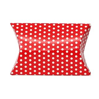 PILLOW SWEET TREATS 100Lx70Wx25Hmm RED/WHITE DOT (PACK OF 10)