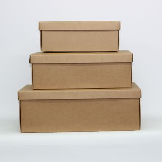 BROWN KRAFT BOX  MEDIUM 300(L) X 230(W) X 110(H)MM