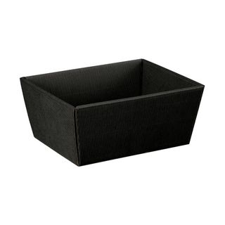 HAMPER TRAY BLACK CORRUGATED MEDIUM 260(L)x 260(W)x100(H)mm