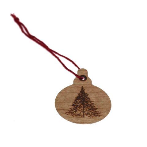 GIFT TAG BROWN TREE - 12 PER PACK