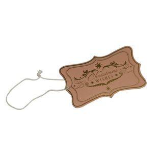 GIFT TAG PINK CHRISTMAS WISHES 12 PER PACK