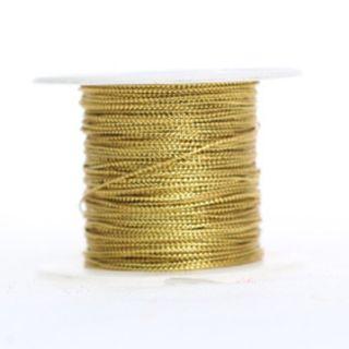 TINY TINSEL CORD 1.5MM  X 45M GOLD