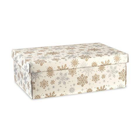 SNOWFLAKES BOX MEDIUM 380(L) X 260(W) X 130(H) MM