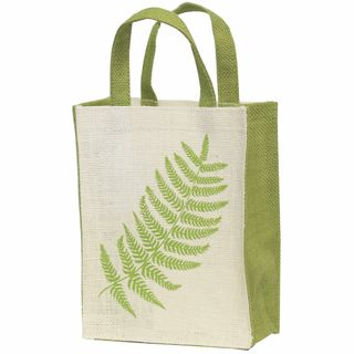 KIWIANA JUTE BAG SMALL FERN WHITE 230(H)x180(W)x100(G) mm