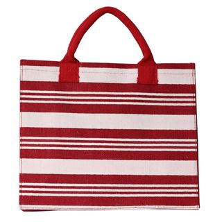 RED STRIPE JUTE BAG 30(H)x35(W)x14(G) CM