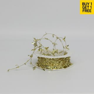 BUTTERFLY TINSEL 1mm x 25M GOLD-BUY 1 GET 1 FREE