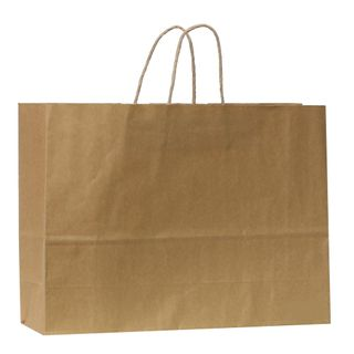 KRAFT BAG BROWN PLAIN LANDSCAPE 31H x42W x 13G CM  PACK OF 10