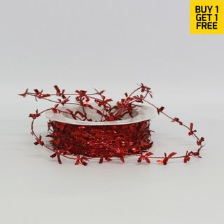 BUTTERFLY TINSEL 1mm x 25M RED-BUY 1 GET 1 FREE