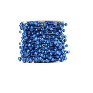 BEADS WIRED 6mmx25M BLUE