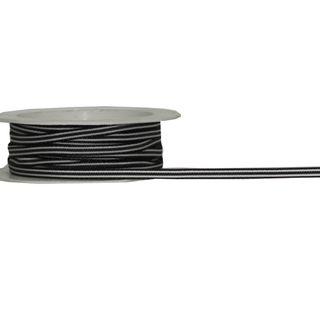 FLEUR 4mmx10M BLACK/WHITE STRIPE
