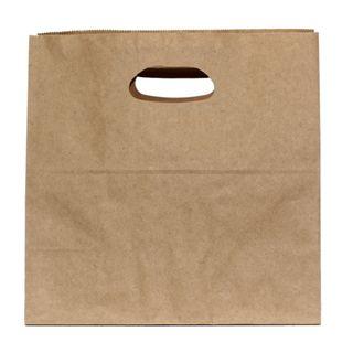 KRAFT BAG BROWN DIECUT 28Hx28W x15G CM -500 /CARTON