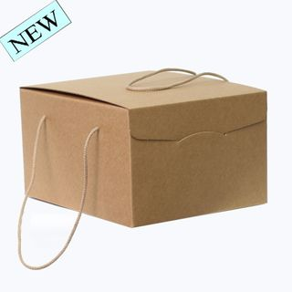BROWN BOX WITH ROPE HANDLE MEDIUM 290(L) x355(W) x195(H) MM
