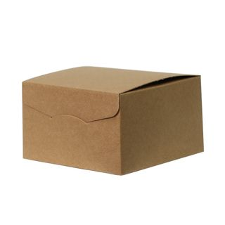 BROWN BOX WITH FOLDOVER LID SMALL 245(L) x245(W) x150(H) MM