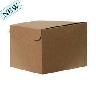 BROWN BOX WITH FOLDOVER LID MEDIUM 300(L) x300(W) x240(H) MM