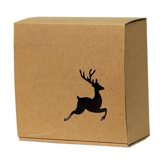 BASSANO BOX REINDEER 300(L)x300(W)x110(H)mm LARGE - DUE OCTOBER