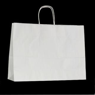 KRAFT BAG WHITE PLAIN LANDSCAPE 31H x42W x 13G CM  PACK OF 10